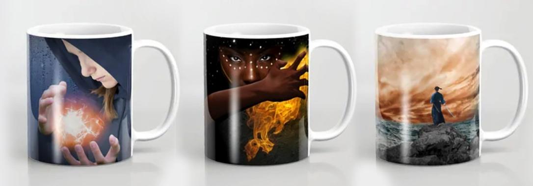 Theonite cover art mugs